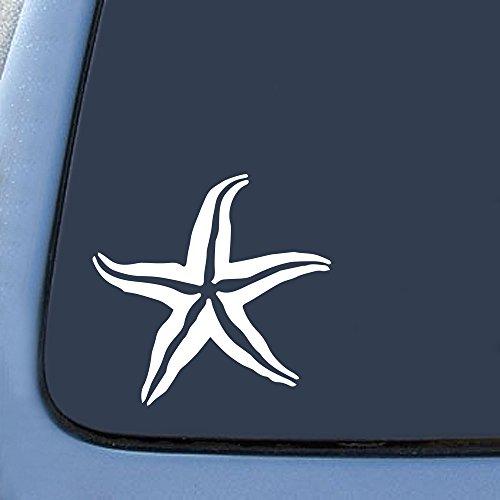 Bargain Max Decals Starfish Silhouette Sticker Decal Notebook Car Laptop 5.5' (White)