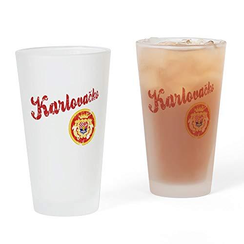 CafePress–karlovacko–Pint-Glas, 16oz Trinkglas frosted