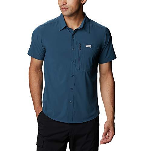Columbia Triple Canyon II, Camicia A Maniche Corte Uomo, Petrol Blue, XL