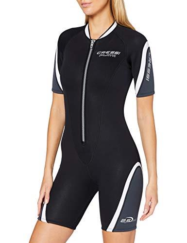 Cressi Damen Playa Lady Shorty Diving und Snorrkeling Neoprenanzug 2.5mm, Schwarz/Weiß, XS/1