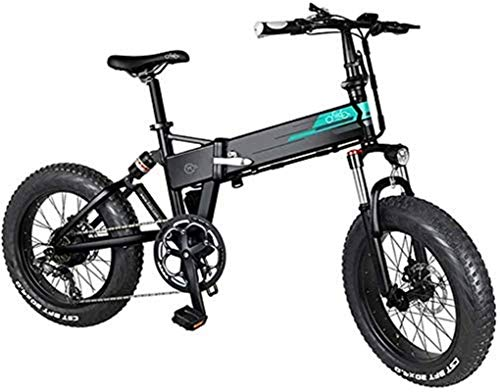 Bicicleta eléctrica de nieve, Bicicletas eléctricas rápidas for adultos bicicleta de montaña eléctrica con 20 Zoll 250W 7 velocidades Desviador 3 Modo LCD for Adultos Adolescentes Batería de litio Pla