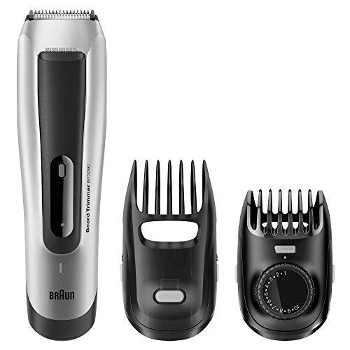 Braun BT 5090 - Recortadora barba hombre, corta con ajuste fino cada 0.5 mm y cortapelos de precisión, color negro/plata