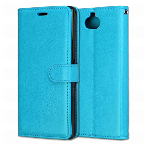 Laybomo Handyhülle Sony Xperia 10 / XA3 Hülle Ledertasche Weiches Gummi Silikon TPU Haut Beutel Schützend Stehen Bilderrahmen Brieftasche Schale Tasche Schuzhülle für Sony Xperia 10 / XA3 (Blau)