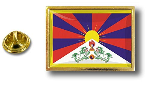 Akacha pin pin pin pin metaal met vlinderklem Tibetaanse vlag
