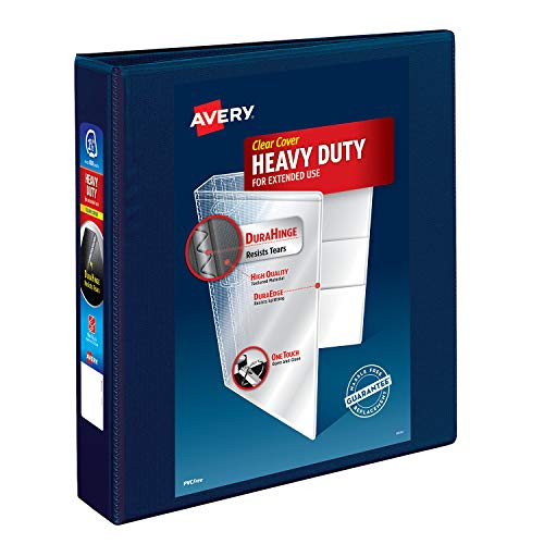 Avery Heavy Duty View 3 Ring Binder, 1.5