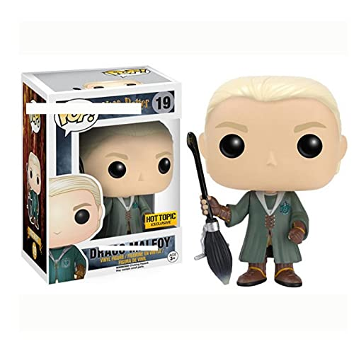 LKOP Figuras Pop Harry Potter Quidditch Draco Malfoy Asia 10Cm, Figura De Vinilo Modelo De Juguete Coleccionable con Caja