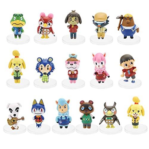 YLJXXY Animal Crossing Figure Anime Q Version Chibi Figure Action Figure Cake Topper Cake Decorations 16 pcs/Set