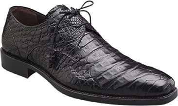 Mezlan Anderson Grey Genuine Crocodile Lace-Up