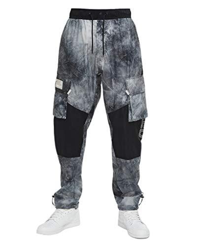 Nike Men's Printed Jordan 23 Engineered Cargo Woven Pants (M) White/Black
