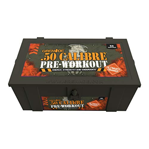 Grenade 50 Calibre Pre-Workout Devastation - Ultimate Orange, 50 Servings, 580 g