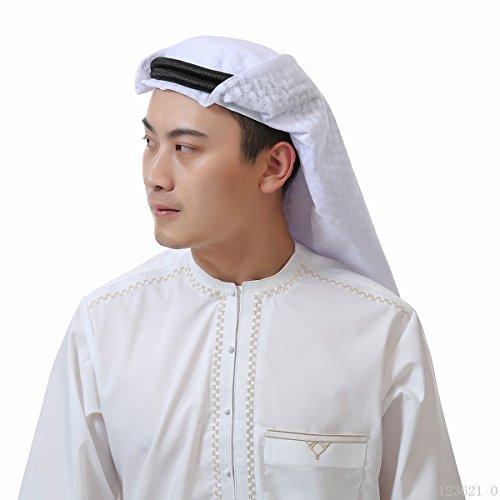 Amorar Arabische Kopftuch der Männer, islamische Print Schal Turban Kopfbedeckung, muslimische Abdeckung Schals Hijab Schal Dubai Kopftuch Headwrap,EINWEG Verpackung