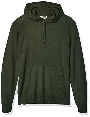 Amazon Brand - Goodthreads Men's Lightweight Merino/Wool Acrylic Pullover Hoodie Sweater, Olive Medium