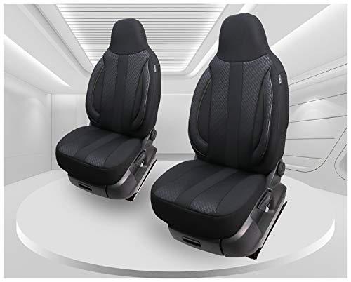 Fundas de asiento compatibles con Dacia Sandero para conductor y copiloto a partir de 2008, número de color: MD504.