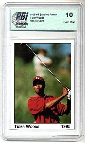 1995 Tiger Woods Stanford PRE-Rookie Card PGI 10 Swing - Unsigned Golf Trading Cards
