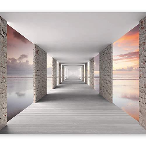 murando Papier peint intissé 400x280 cm Décoration Murale XXL Poster Tableaux Muraux Tapisserie Photo Trompe l'oeil Ciel Tunnel Perspective c-C-0005-a-d