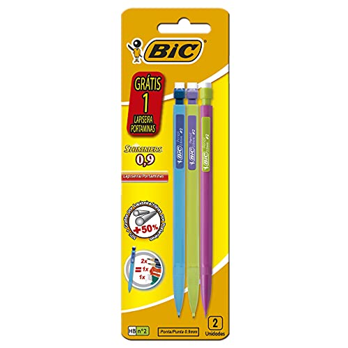Lapiseiras 0.9mm, BIC, Shimmers, 891947, 3 Unidades