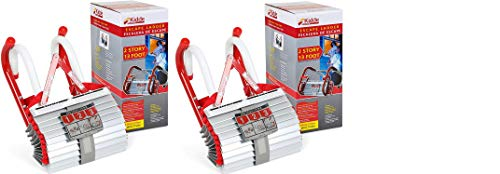 Kidde 468093 KL-2S Two-Story Fire Escape Ladder with Anti-Slip Rungs, 13-Foot, 2 Pack