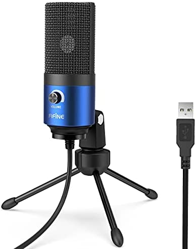 USB Microphone,Fifine Metal Condenser Recording Microphone for Laptop MAC or Windows Cardioid Studio Recording Vocals, Voice Overs,Streaming Broadcast and YouTube Videos-K669B