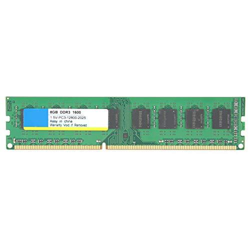 Goshyda Módulo de Memoria de computadora de Escritorio, DDR3 8GB 1600Mhz PC3‑12800 1.5V 240PIN, para AMD 3-Generation