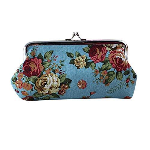 Celucke - Bolso de mano para mujer, diseño vintage de flores
