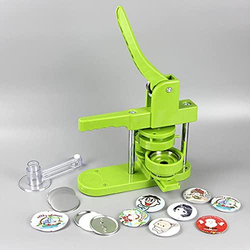 LINGNI Machine à créer des Badges Machine à Badges Press Button Machine à Machine à Pain Composants Bricolage Badge Broche Faire Moule Bouton Maker Punch Machine 100*Badge consumables (25MM)