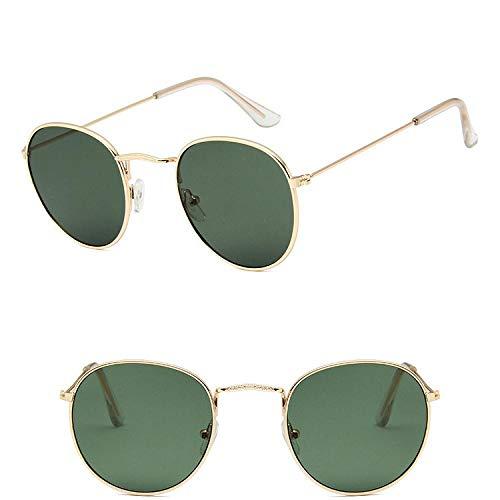 des Lunettes de Soleil Sunglasses Lunettes De Soleil Classiques Ovales Vintage Femmes/Hommes Lunettes Uv400 Golddeepgreen