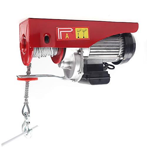 OUKANING 1800W Elektrische Motorwinde Seilwinde Seilzug Hebezeug 500/1000KG 220V