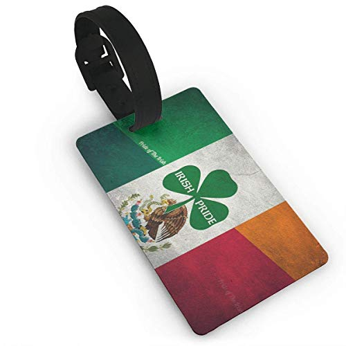 Irish Mexican Luggage Tags Travel Baggage ID Suitcase Labels Accessories (2.2 X 3.7 Inch) 2 Piec