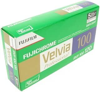 Fujifilm Fujichrome Velvia 100 Color Slide Film ISO 100, 120mm, 5 Roll Pro Pack
