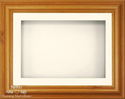 Anika-Baby 29,2 x 21,6 cm Miel Bois de pin Cadre 3d/1 trou Passe-partout crème