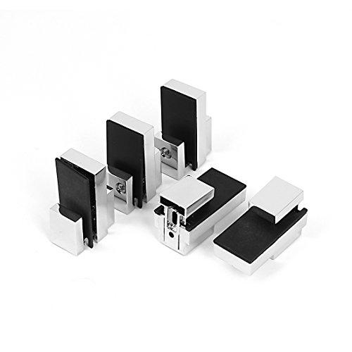 Einstellbarer, 3 mm, 15 mm dick, Glasablage Halterung mit Klemme, 5-teilig de