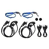 DERCLIVE Mini Walkie Talkie 0. 5W 400‑470MHz Radio Transceptor Auricular Auricular Gancho Auriculares