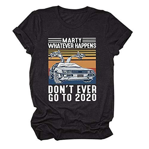 2021 Nueva Camiseta Tops para Mujer Costuras Impresión de Cartas Camiseta Verano Casual TopsCuello en O de Manga Corta Casual de Talla Grande , Camiseta Suelto T-Shirt Varios tamaños Cartas Camiseta