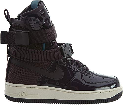 "Nike Air Force One SF Special Field AF-1 SE Premium Prm ""Port Wine"" Exclusive Collection, Scarpe da Corsa Donna + Bolsa"