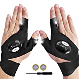 LED Flashlights Gloves, Calmsen Cool Gadgets for Handyman, Fishing gifts for men, Repair and Outdoor Activities in Dark Spaces, Gifts for Men/Dad Who Have Everything - 1 Pair