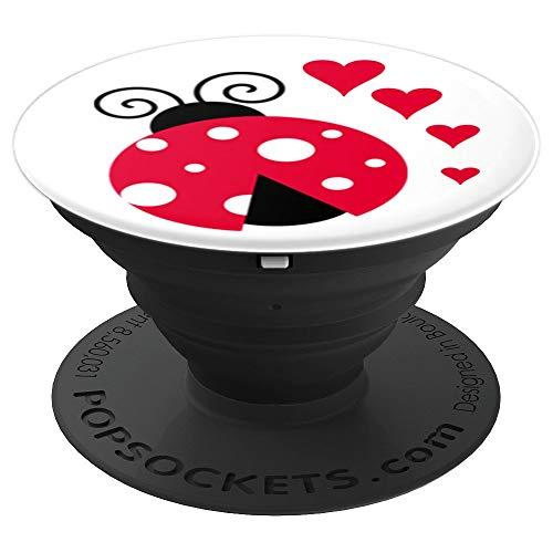 Ladybug Ladybird Beetle Beetle Ladybeetle Insect Red Black PopSockets Agarre y Soporte para Teléfonos y Tabletas