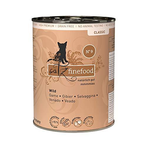 catz finefood N° 9 Wild Feinkost Katzenfutter nass, verfeinert mit Kartoffel & Preiselbeere, 6 x 400g Dosen