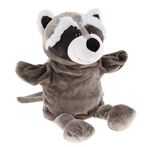 24cm Weicher Plüsch Zoo Tier Handpuppen Kinder Spielzeug zum Geschichtenerzählen - Waschbär