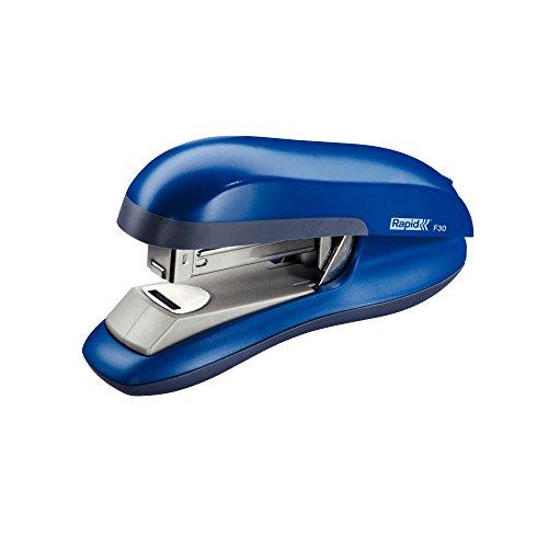 Rapid 23256501 Flachheftgerät (30 Blatt, ABS-Kunststoff, Metall, Gummiboden, F30) blau