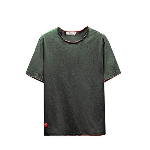 TEBAISE T-Shirt Herren Kurzarm Shirt Hip Hop Baumwolle 3D Druck T-Shirt Rundhals Basic Shirt 2019 Sommer Slim Fit Tops Sport Shirt Männer Moderner Übergrößes Print Kleidung Harajuku Shirts Vatertags