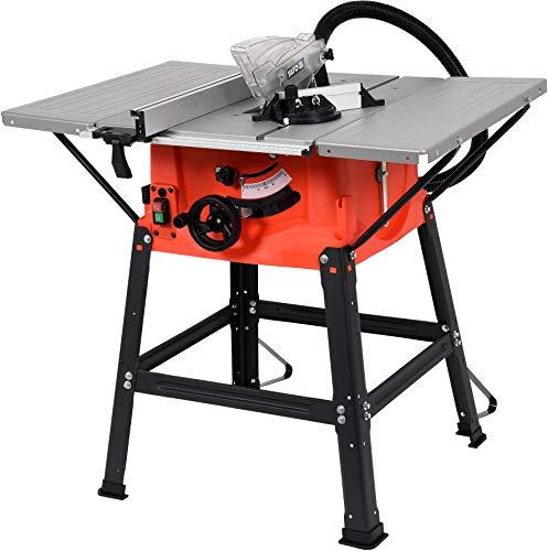 YATO Profi Tischkreissäge YT-82165 (1800W, 5.000 min-1, Sägeblatt Ø 250 x Ø 30 mm, max. Schnitthöhe 85 mm, Parallelanschlag, Winkelanschlag für Gehrungsschnitte 45°-90°, incl. Hartmetall-Sägeblatt)