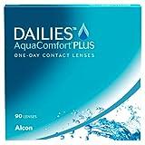 Dailies AquaComfort Plus lenti a contato giornaliere, 90 lenti, BC 8.7 mm, DIA 14.0 mm, -3...