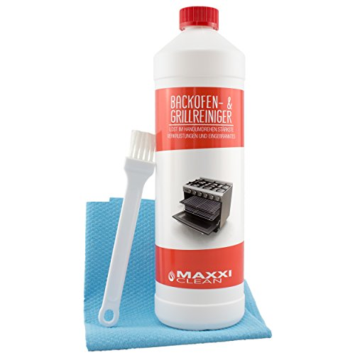Maxxi Clean Backofenreiniger 1000 ml Gel Paste inkl. Backofen- und Grillreiniger Pinsel + Bonus agPLUS Fleece