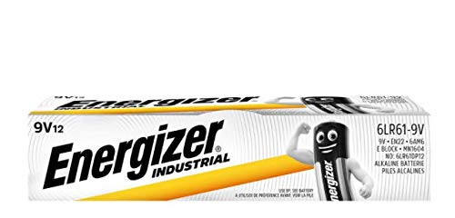 Energizer 9V Industrial/Disposable Battery (Pack of 12)