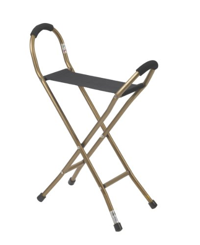 Image of Drive Medical Folding Lightweight Cane with Sling Style Seat