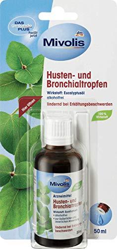 Das Gesunde Plus (Mivolis) Husten und Bronchialtropfen Glutenfrei, Laktosefrei 1er-Pack (1x50ml)