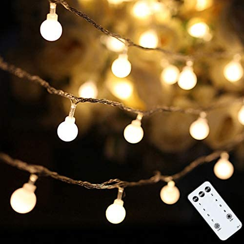 Globe String Lights 49 Feet 100 LED Fairy Lights Plug in with Remote for Indoor Outdoor Wedding product image