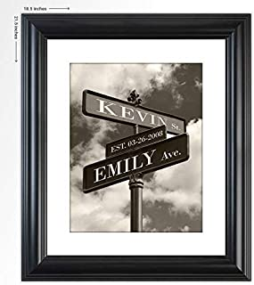 "Personalized Wedding Gift -""Our Corner"" Street Sign Art Print- The Perfect Present for the Bride and Groom or Anniversary - Customized Print Includes Names and the Special Date Under $30"