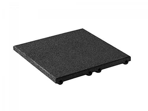 Fallschutzmatte Fallschutzplatte 500x500x45mm Fallhöhe bis 1,50 m Gummigranulat in schwarz