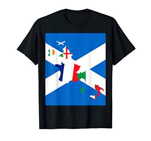 Scozia Rugby Fan St Andrews Cross Flag Design Maglietta